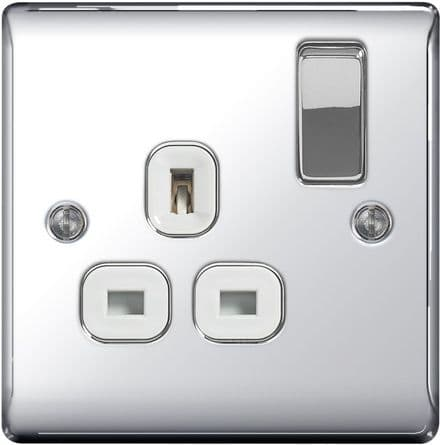 BG Chrome 13a Switched Socket - 1 Gang